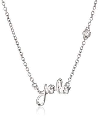 "Syd by SE ""YOLO"" (You Only Live Once) Necklace with Diamond Bezel"