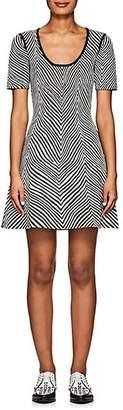 Opening Ceremony Women's Zebra Jacquard Fit & Flare Dress - Black