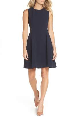 Eliza J Sleeveless Crepe Fit & Flare Dress