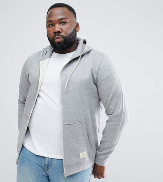 Blend of America plus zip thru hoodie in gray melange