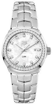 Tag Heuer Link Lady Diamond and Stainless Steel Watch