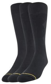 Gold Toe Gt a Goldtoe Brand Men's Extended Size Rayon Dress Socks 3-Pack