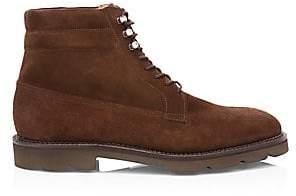 John Lobb Men's Alder Lace-Up Suede Derby Boots