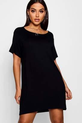 boohoo Round Neck Tshirt Dress