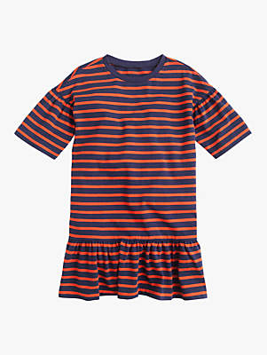 J.Crew crewcuts by Girls' Alex Stripe Dress, Orange