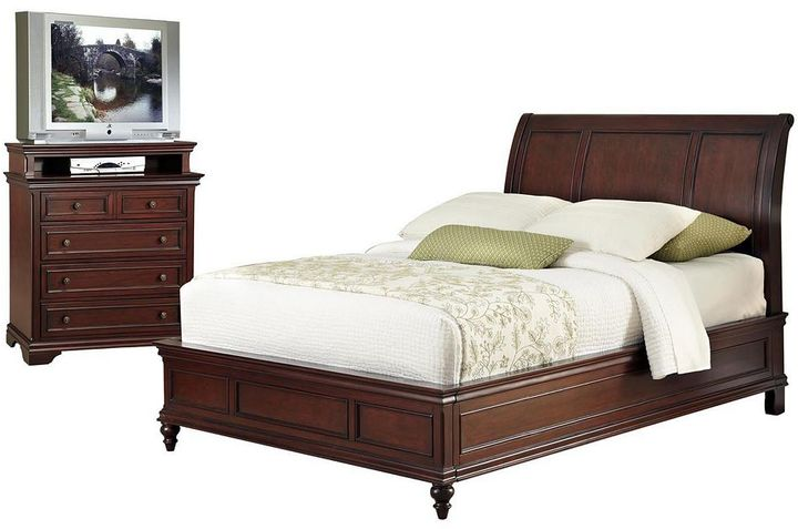 Home styles Lafayette 2-pc. King Headboard & 5-Drawer Media Chest Set