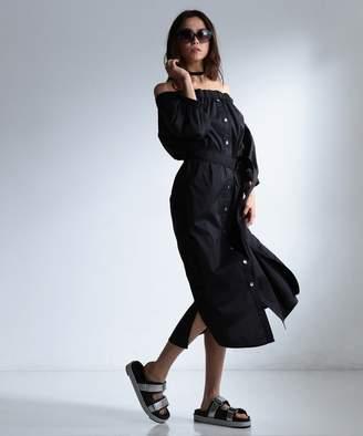 Calvin Klein (カルバン クライン) - Calvin Klein women 【IMPORT/17SS】ニューファインストレッチ ワンピース(C)FDB