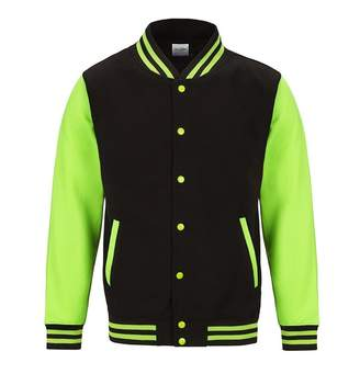 AWDis Just Hoods Womens/Ladies Electric Varsity Jacket (L)