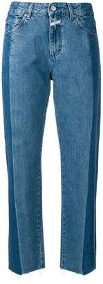 Closed straight two-tones jeans