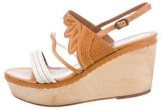 Derek Lam Leather Ankle Strap Wedges Brown Leather Ankle Strap Wedges