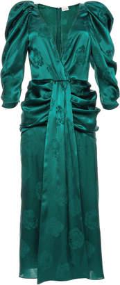 Magda Butrym Downey V-Neck Silk Dress