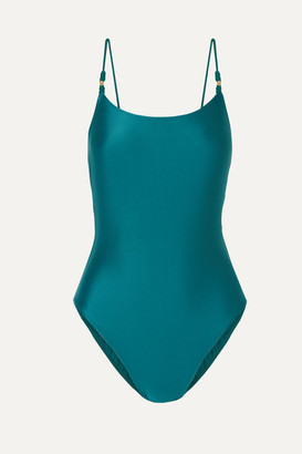 Vix Rosie Rope-trimmed Swimsuit - Teal