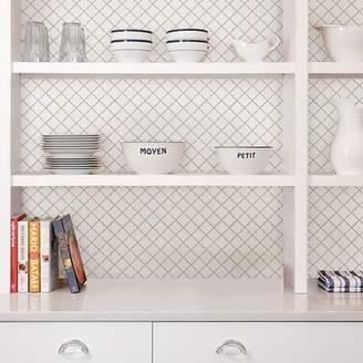 WallPops! Quatrefoil 10 x 10 Resin Peel & Stick Mosaic Tile in Gray/White