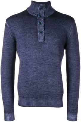 Sun 68 half-button sweater