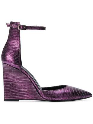 Just Cavalli metallic wedges
