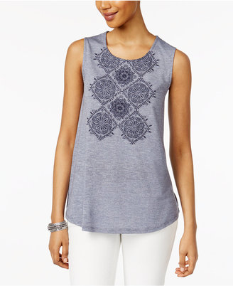 Style & Co Embroidered Top, Only at Macy's $39.50 thestylecure.com