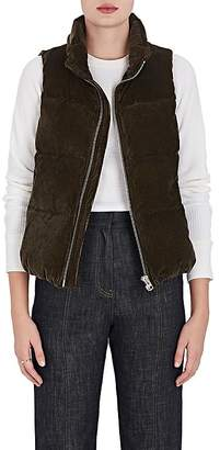 VIS A VIS Women's Down-Quilted Corduroy Puffer Vest
