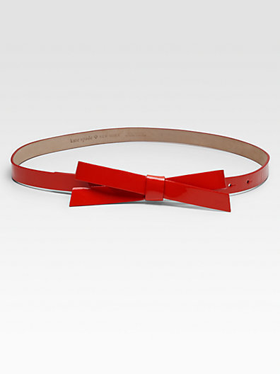 Kate Spade New York Patent Leather Bow Belt