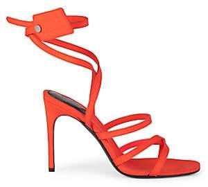 Off-White Women's Zip-Tie Satin Stiletto Sandals