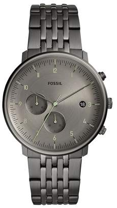 Fossil Men's Chase Timer Medium Round Stainless Steel Bracelet Watch, 42mm