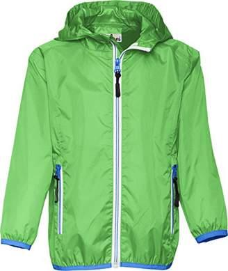 Playshoes Girl's Waterproof Rain Jacket Packable Hoodie Raincoat,9- (Size:140)