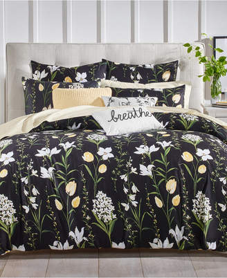 Charter Club 2-Pc. Pressed Floral Printed Twin Comforter Set, Created for Macy's
