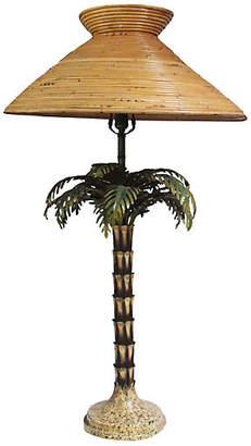 Tall Midcentury Italian Palm Tree Lamp