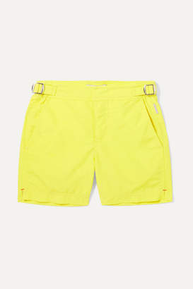 Orlebar Brown Kids - Russell Shell Swim Shorts - Yellow