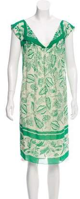 Anna Sui Printed Sleeveless Knee-Length Dress