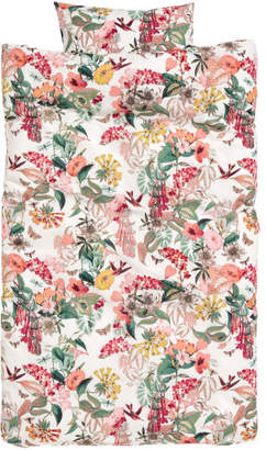 H&M Floral-print duvet cover set - Red