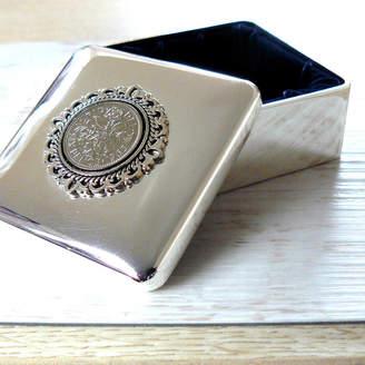 Pennyfarthing Designs Birthday Coin Silver Trinket Box