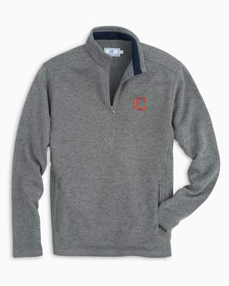 Southern Tide Retro Clemson Tigers Fleece Quarter Zip Sweater