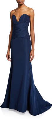 Oscar de la Renta Strapless Mermaid Top Gown
