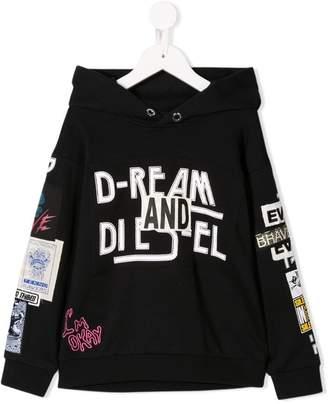 Diesel patchwork hoodie