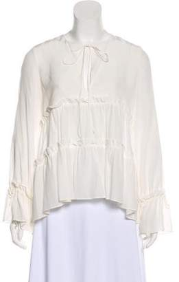 Alexis Silk Long Sleeve Top