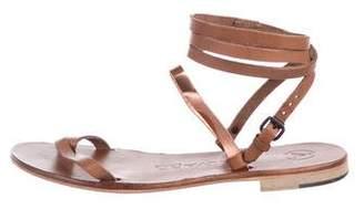 Álvaro Leather Wrap-Around Sandals