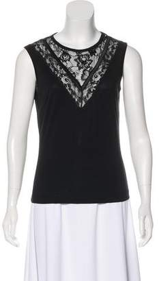 Dolce & Gabbana Lace-Trimmed Sleeveless Top