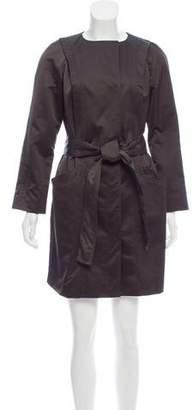 Reiss Collarless Knee-Length Coat