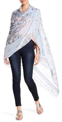 Hinge Floral Knit Wrap