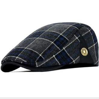 76a05e2de0a Clape Men s Plaid Tartan Newsboy Beret Cap Irish Hunting Hat Cap