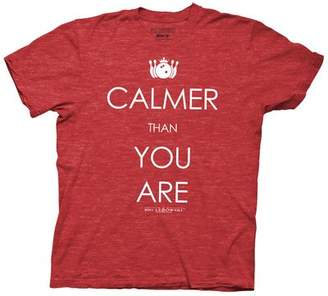 Ripple Junction Big Lebowski Calmer Than You Are Adult T-Shirt Heather Red