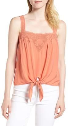 Hinge Lace Trim Tie Front Camisole