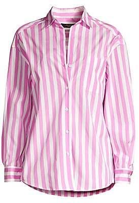 Max Mara Women's Bembo Stripe Poplin Shirt