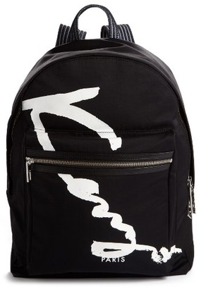 Kenzo Signature Backpack - Black $240 thestylecure.com