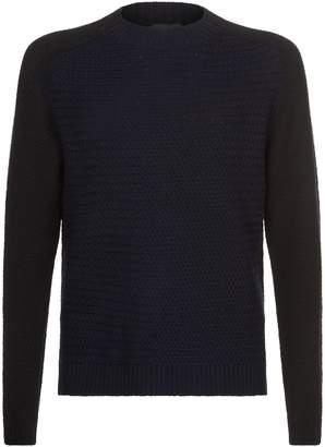 Emporio Armani Wool Honeycomb Knit Sweater