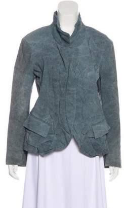 Donna Karan Linen-Blend Textured Blazer