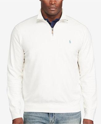 Polo Ralph Lauren Men's Big & Tall Half-Zip Pullover $125 thestylecure.com