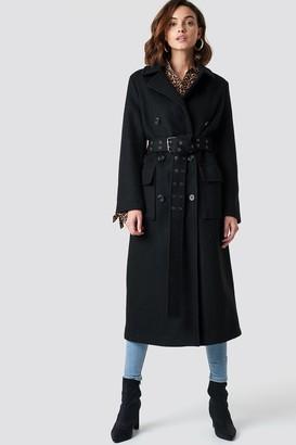 Na Kd Trend Belted Coat Black