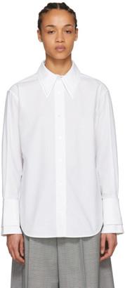 Acne Studios White Roline Double Collar Shirt