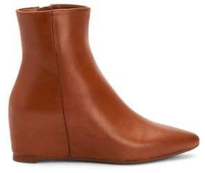 Aquatalia Palmer Leather Wedge Booties.